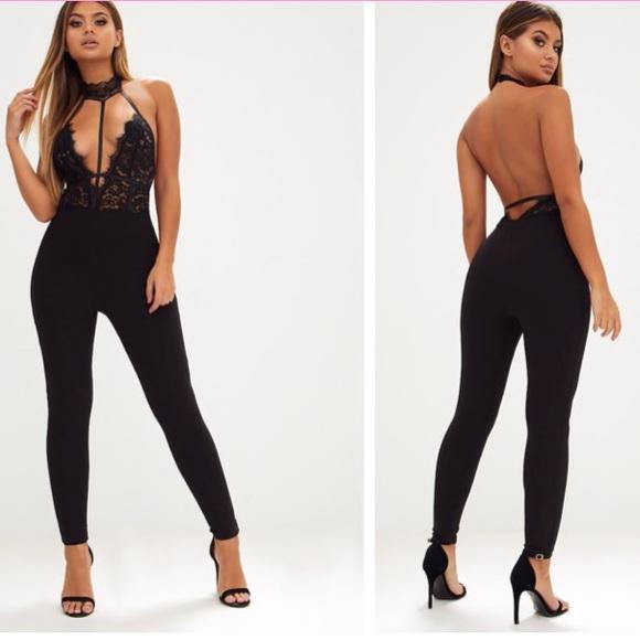 3d175dafd82 Brand New Black Lace Harness Jumpsuit